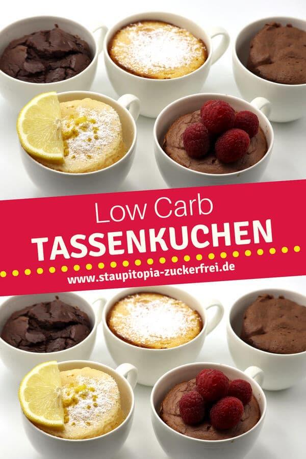 Rezepte für Low Carb Tassenkuchen ohne Mehl