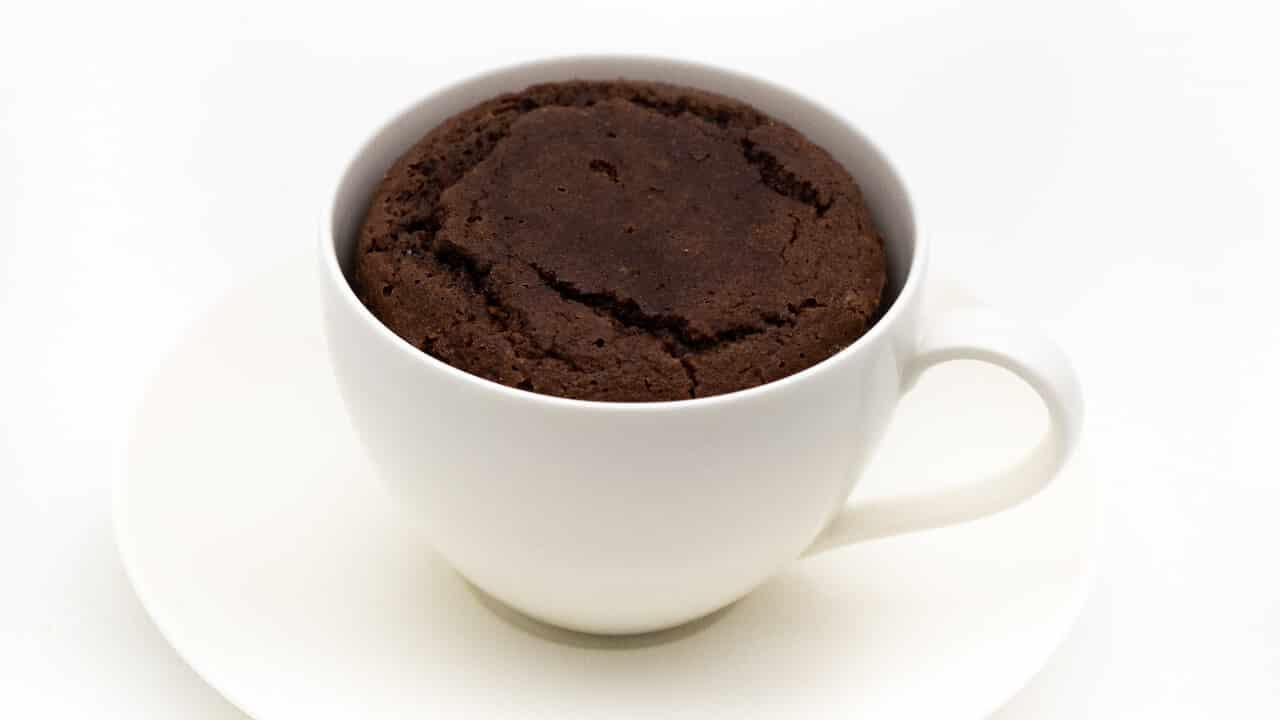 Low Carb Tassenkuchen Schoko ohne Mehl für Mikrowelle und Backofen