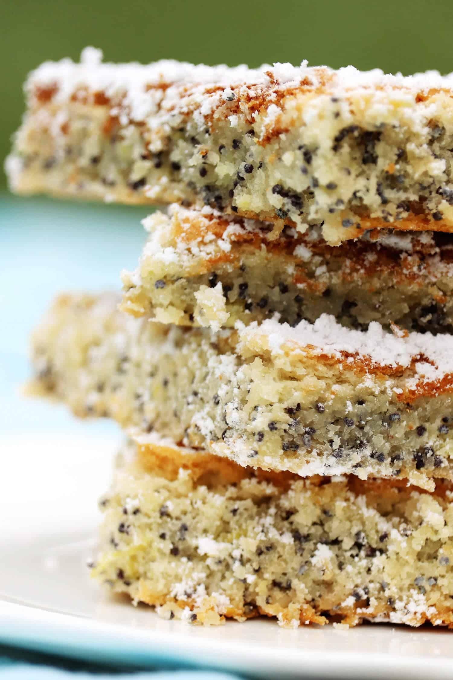 5 Zutaten Low Carb Mohnkuchen ohne Zucker Rezept
