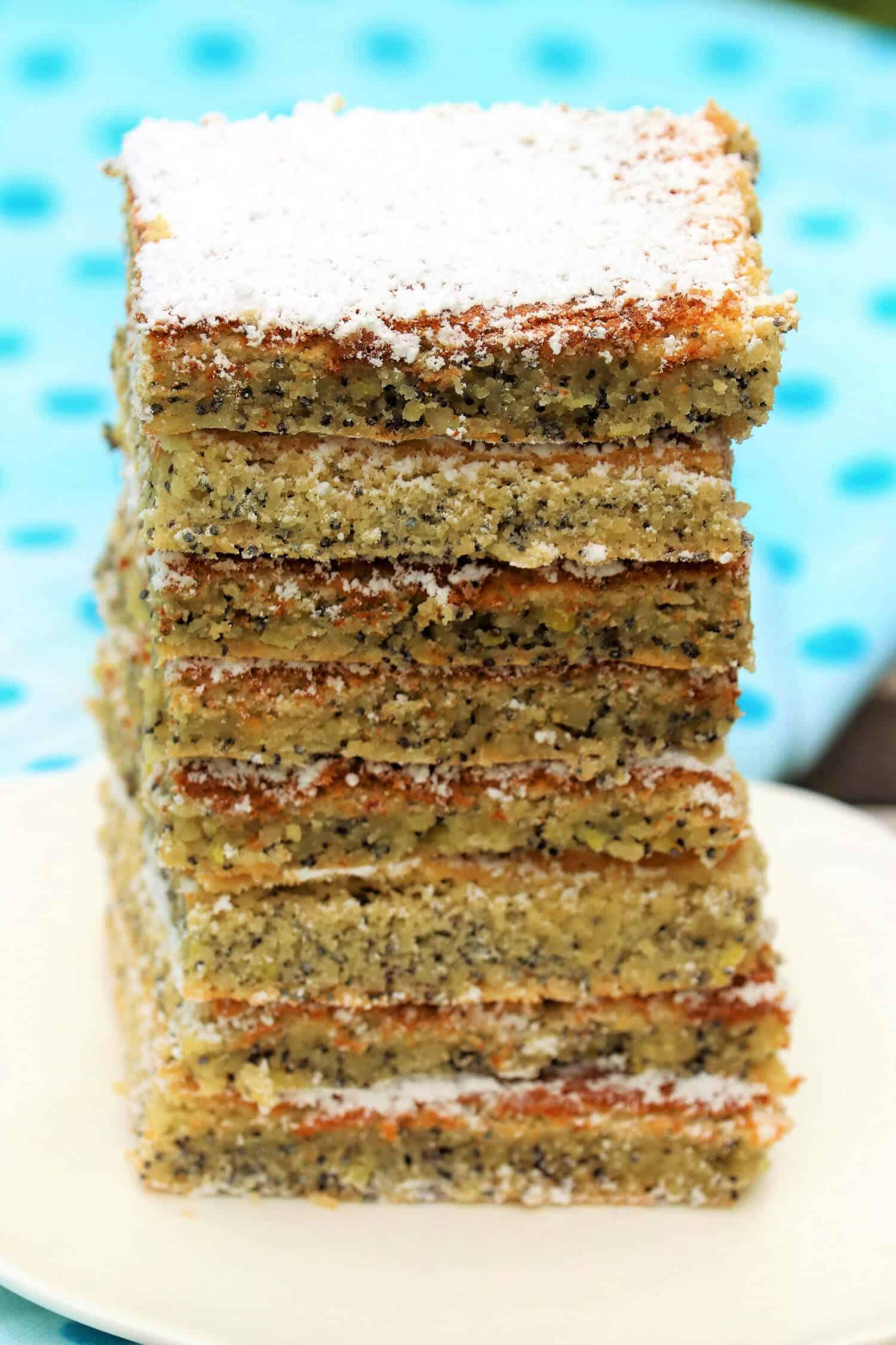 5 Zutaten Low Carb Mohnkuchen ohne Zucker backen