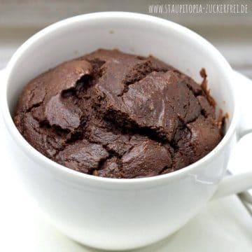 Rezept für einen Tassenkuchen Schoko ohne Mehl