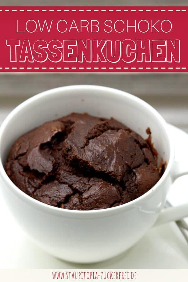 Tassenkuchen Schoko ohne Mehl selber machen