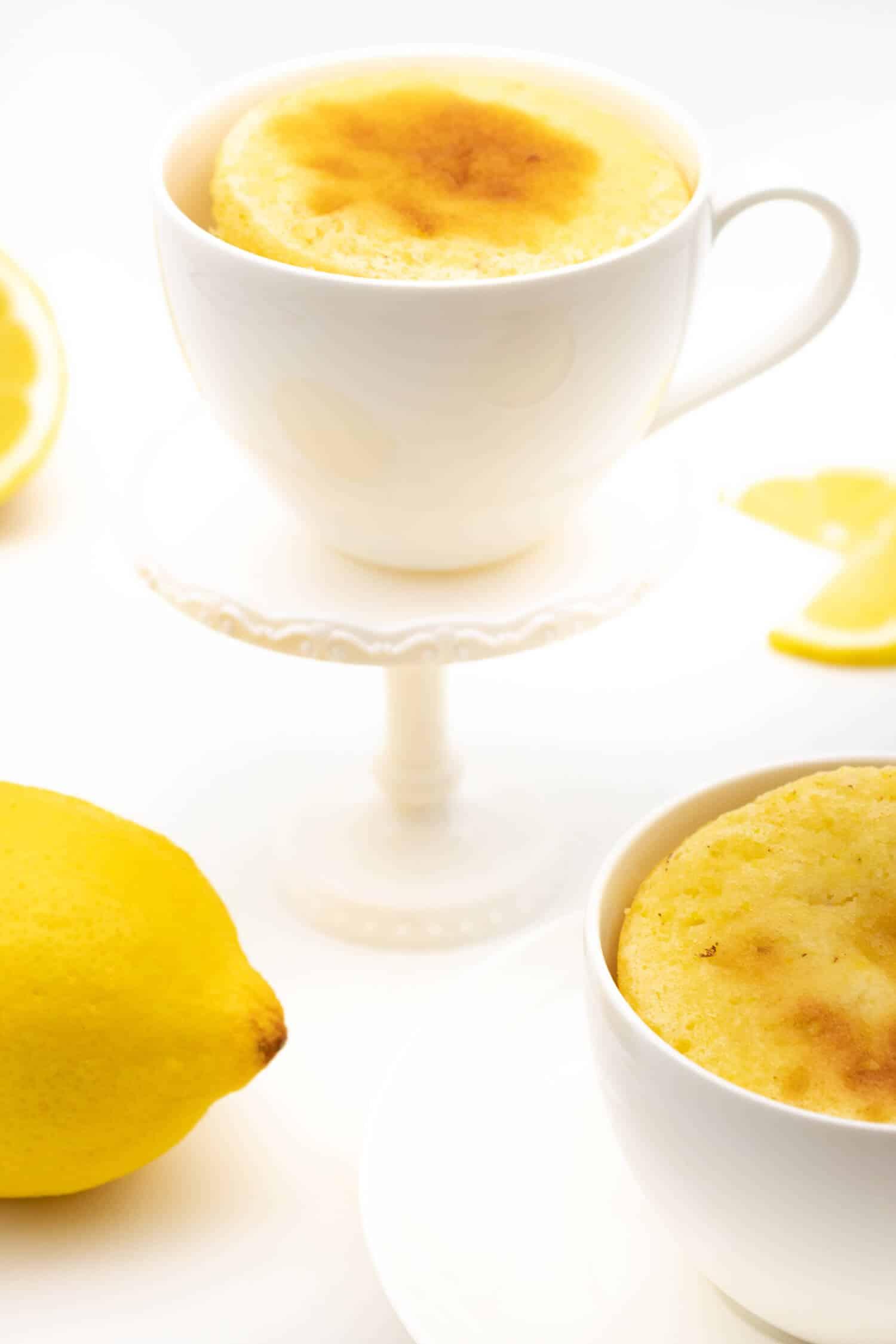 Tassenkuchen Zitrone ohne Zucker selber machen