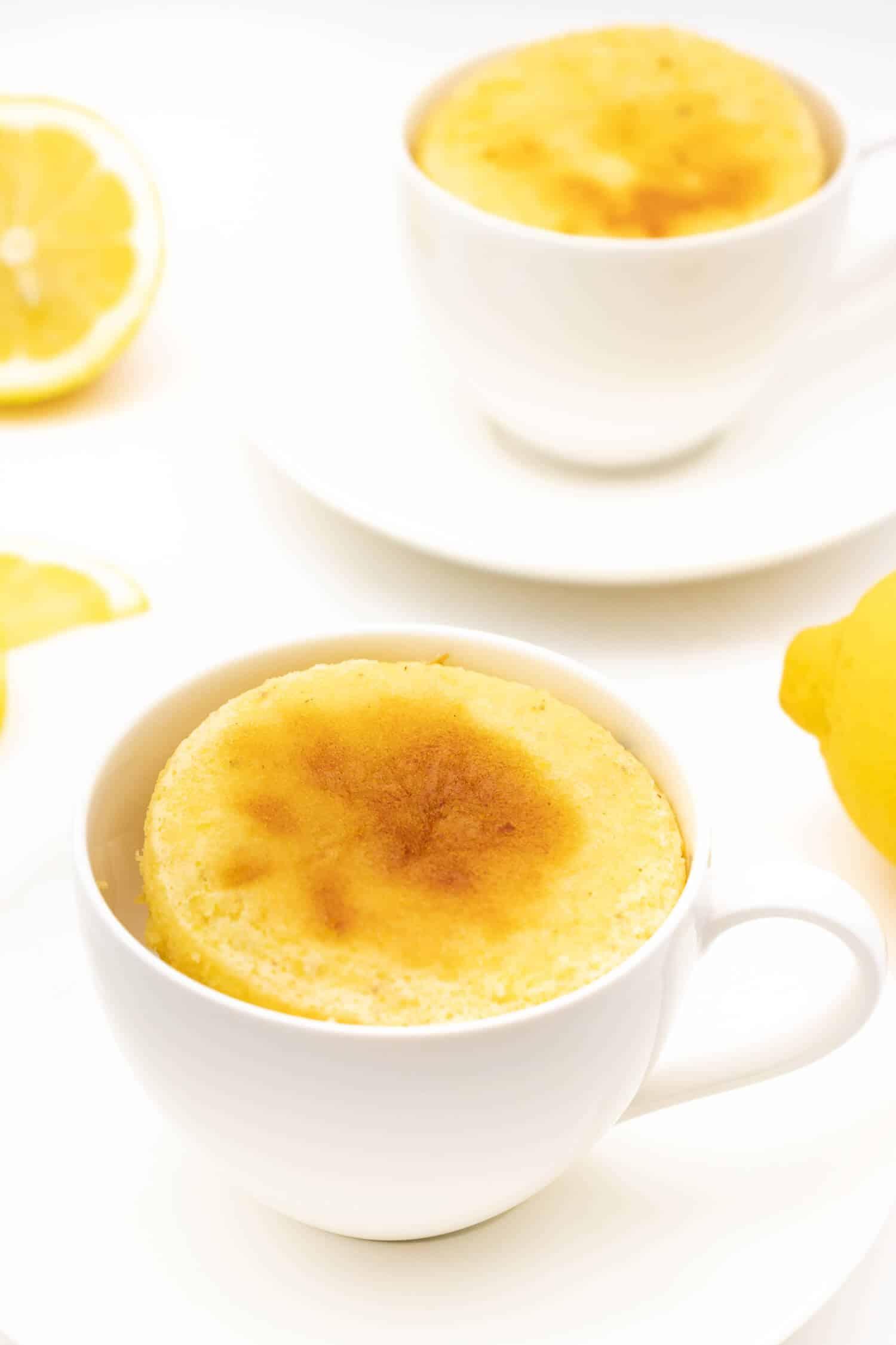Rezept für einen Tassenkuchen Zitrone ohne Mehl