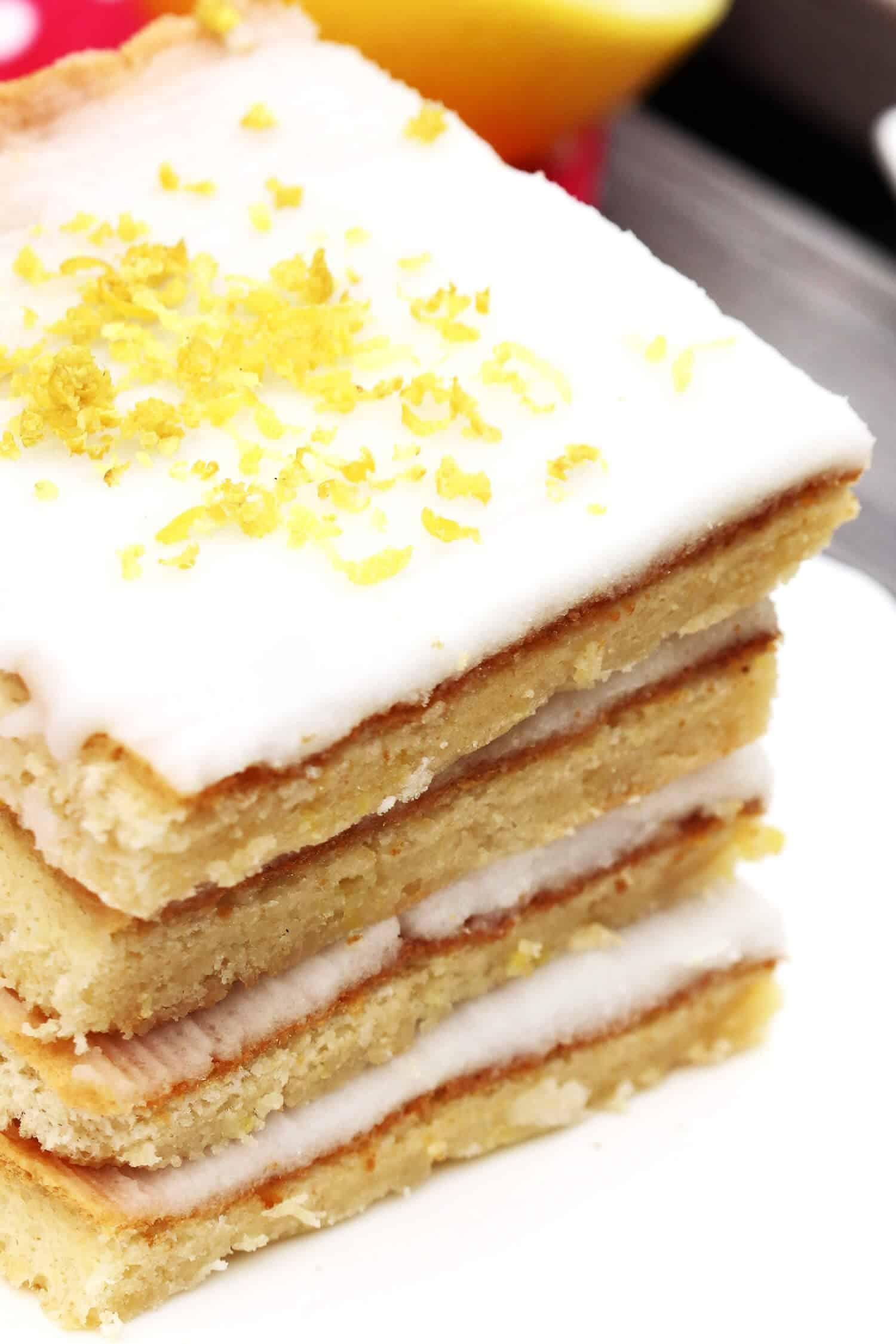 Rezept für einen Low Carb Zitronenkuchen ohne Mehl und Zucker