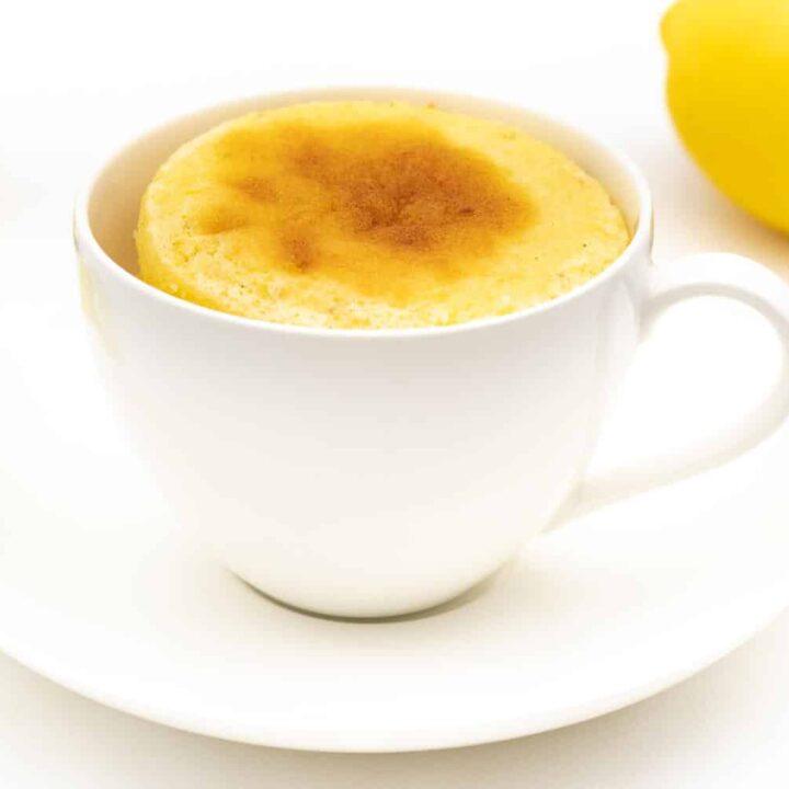 Low Carb Zitronen Tassenkuchen ohne Zucker backen