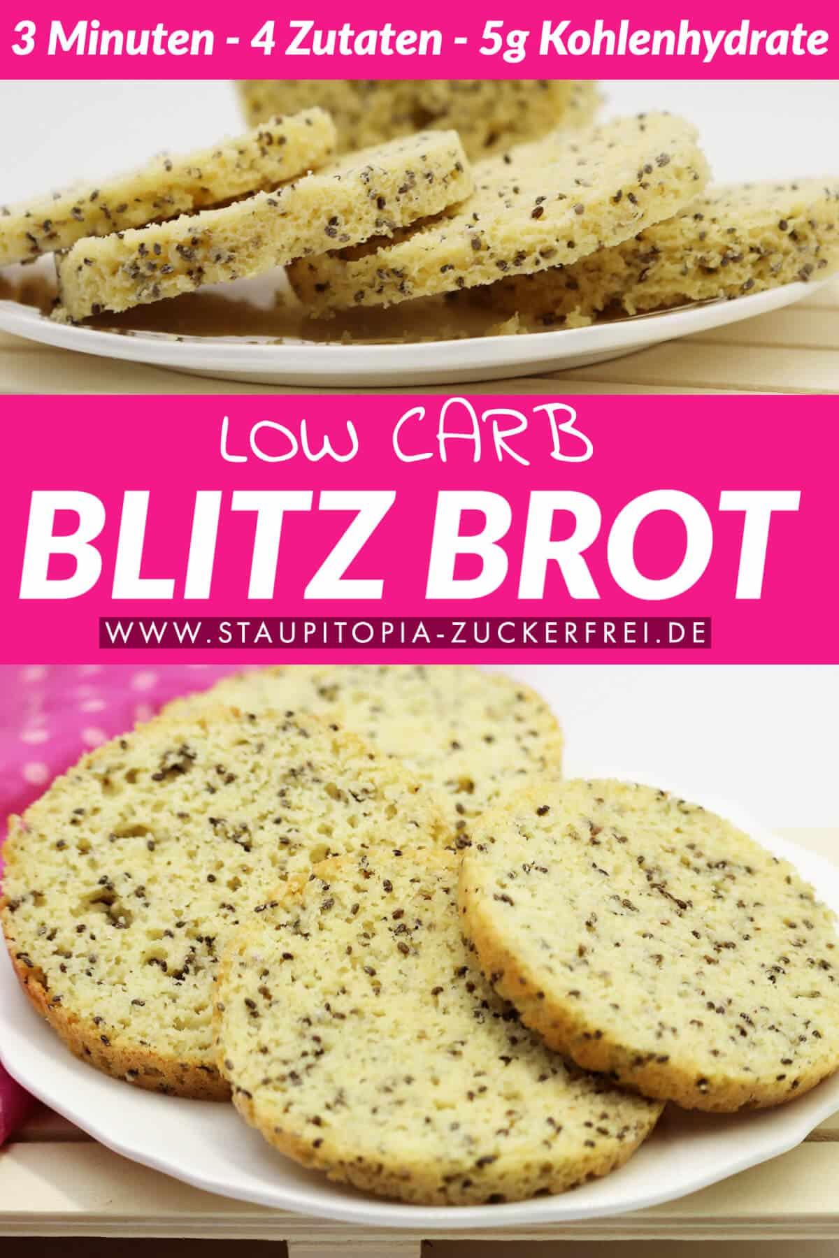 Low Carb Blitzbrot Rezept