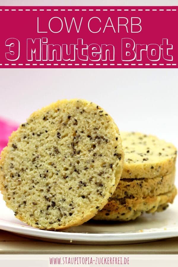 4 Zutaten Low Carb Tassenbrot backen