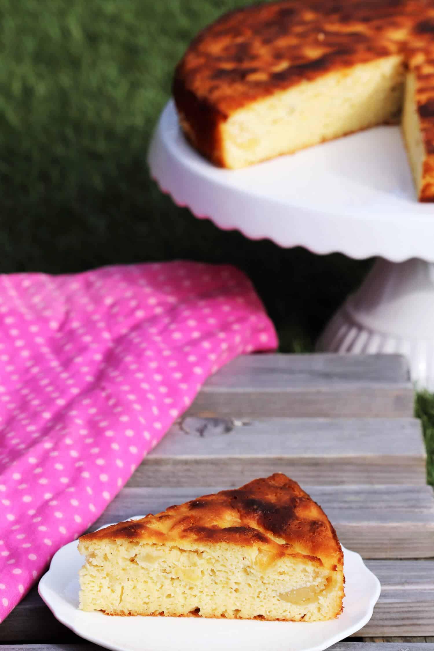Apfelkuchen glutenfrei ohne Mehl und Zucker backen.