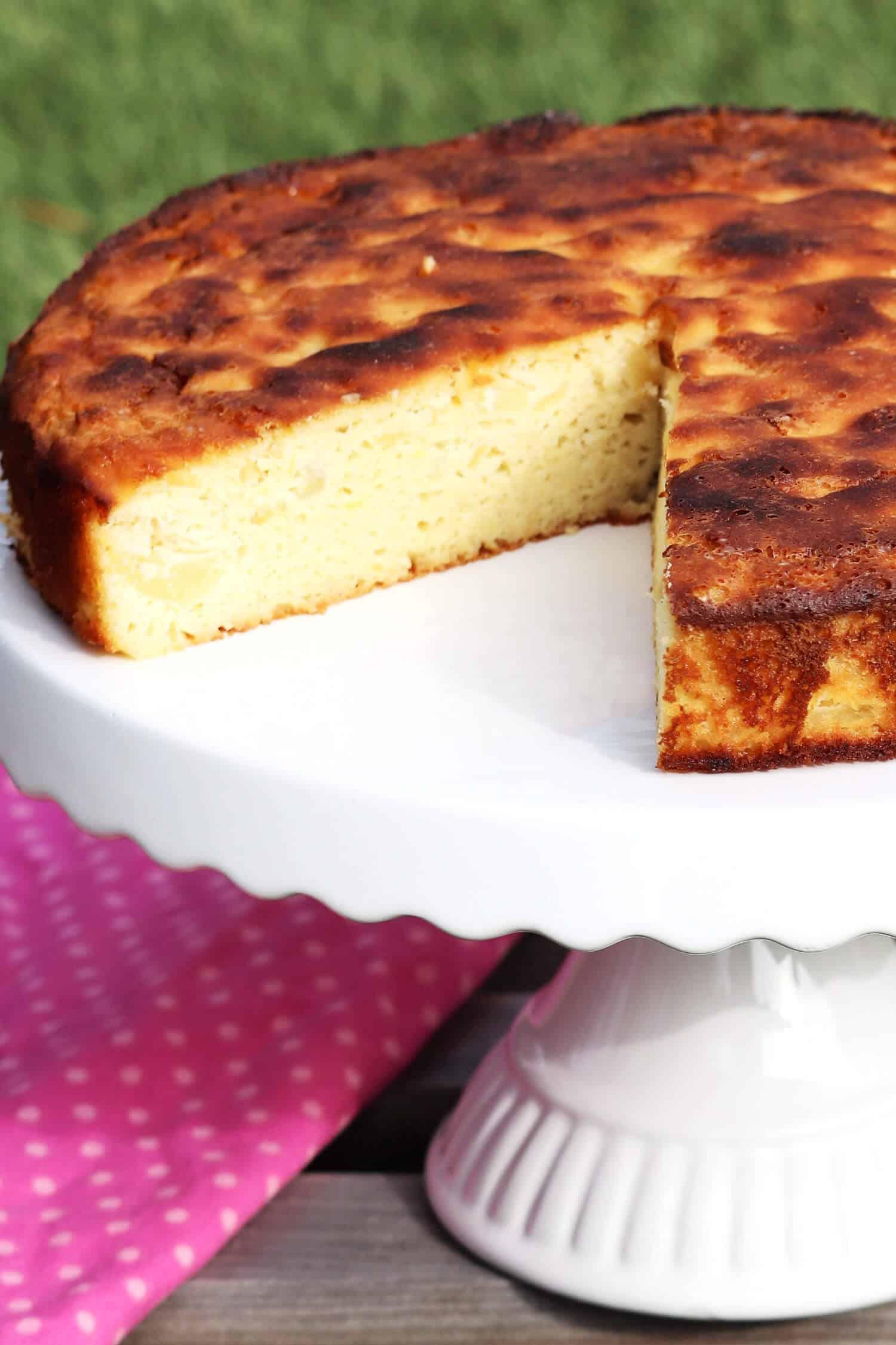 Gesunder Apfelkuchen ohne Mehl und Low Carb.