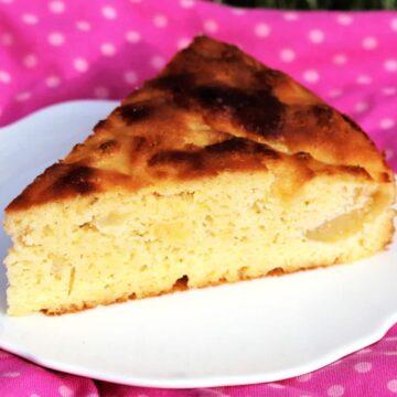 Glutenfreier Apfelkuchen ohne Mehl und Zucker.