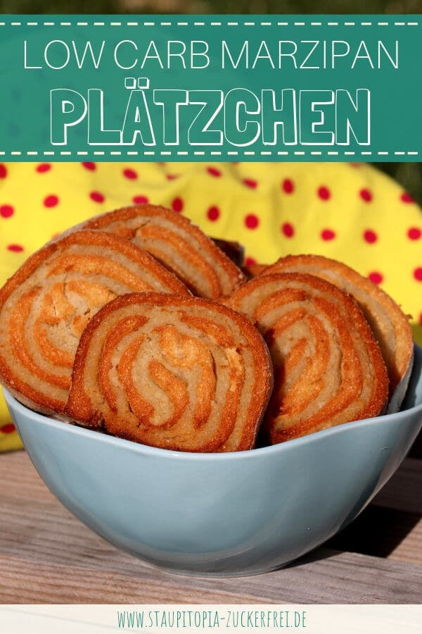 Low Carb Marzipan Plätzchen ohne Zucker backen mit Mandelmehl.
