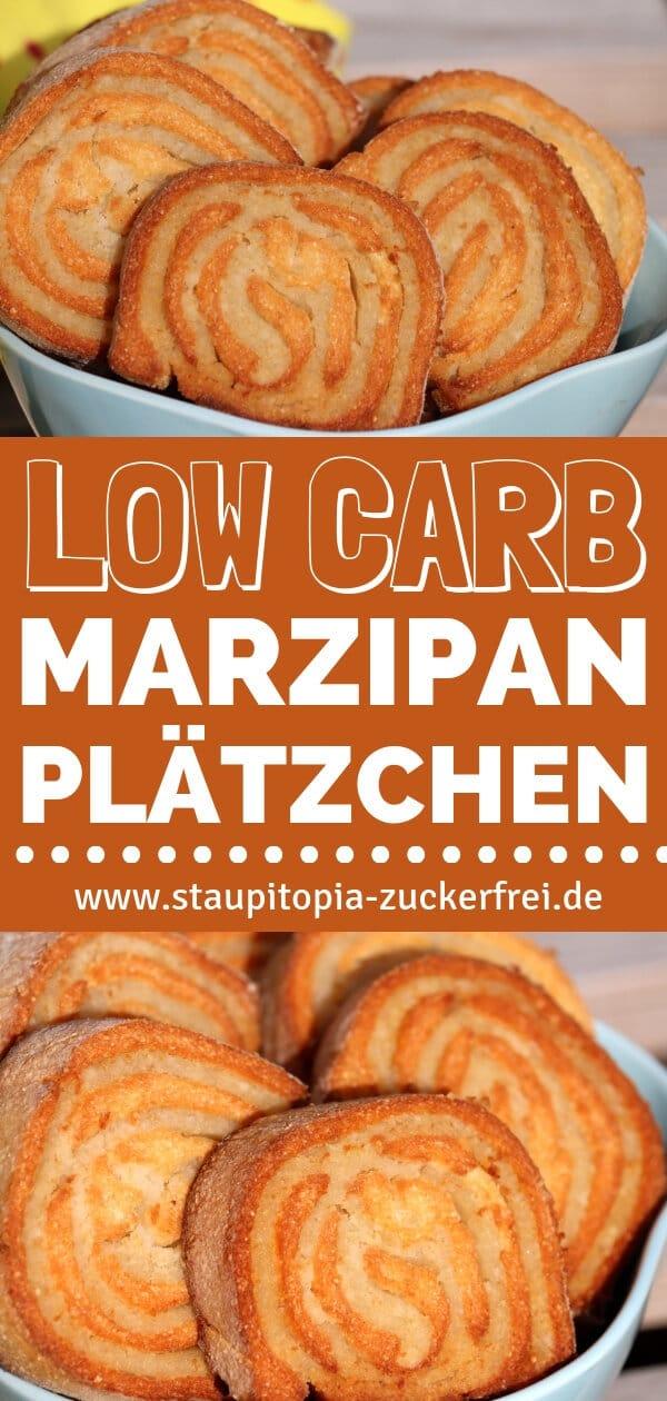 Low Carb Marzipan Plätzchen backen ohne Mehl und Zucker