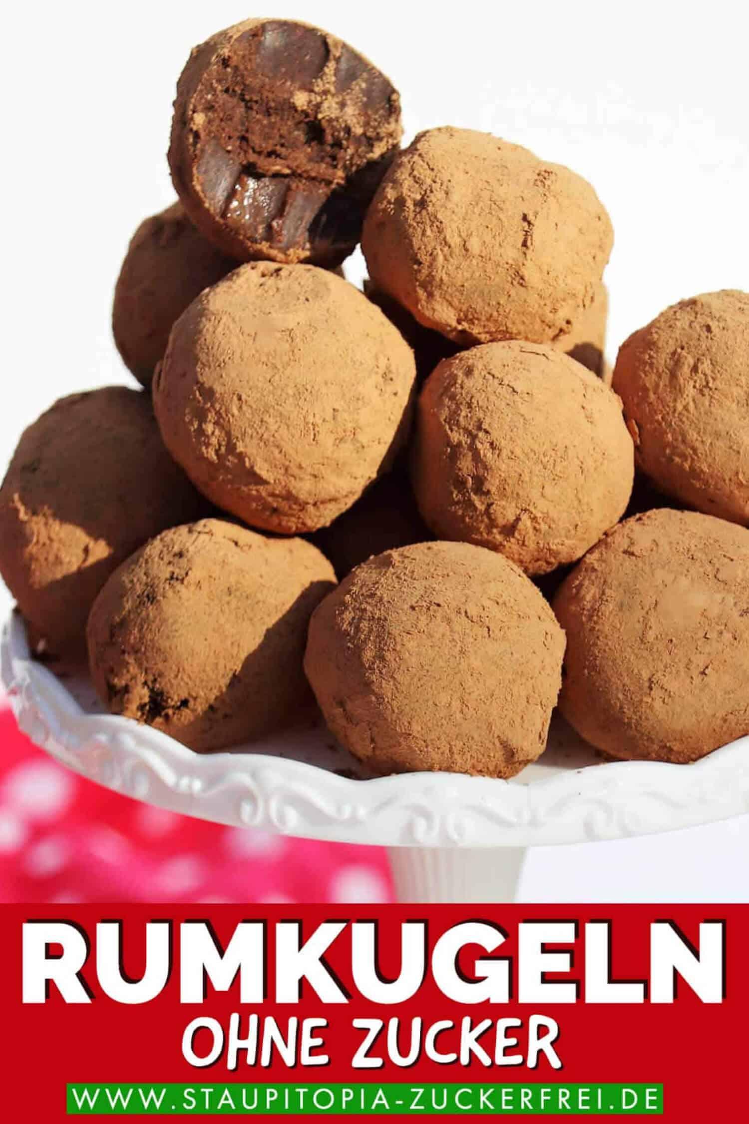 Rumkugeln ohne Zucker selbst machen