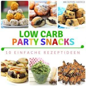 Ideen für Low Carb Party Rezepte: Fingerfood, Snacks, Süßes