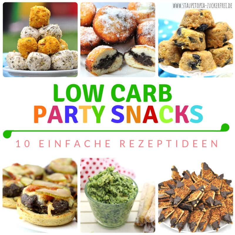 Ideen für Low Carb Party Rezepte: Fingerfood, Snacks, Süßes