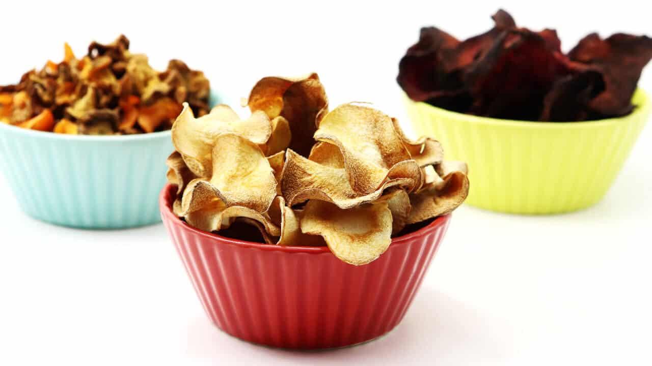 Rezept für Gemüsechips aus der Heißluftfriteuse