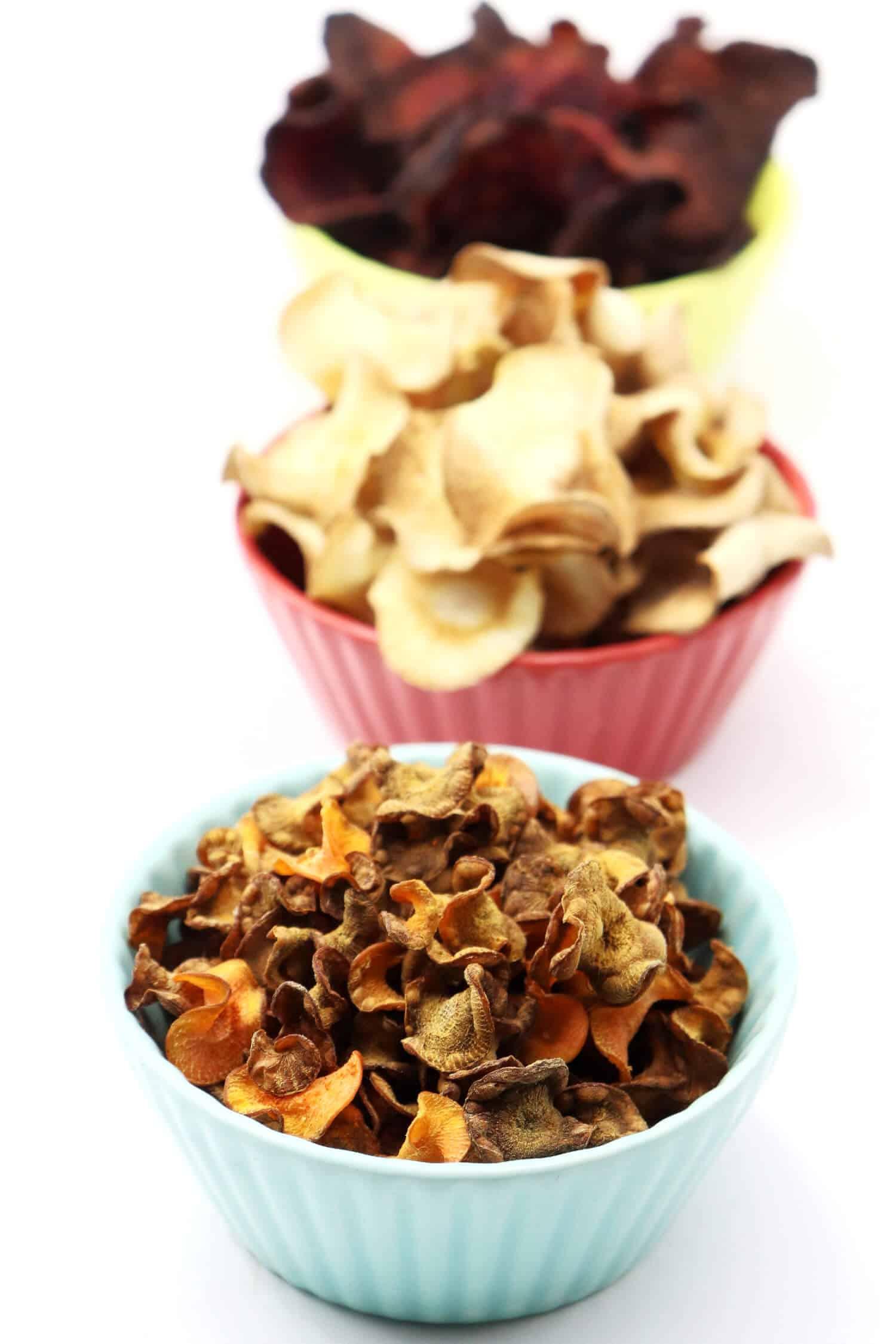 Gemüsechips ohne Fett selber machen im Airfryer