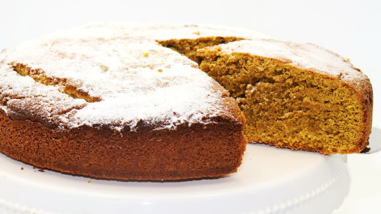Goldene Milch Kuchen ohne Zucker und Mehl