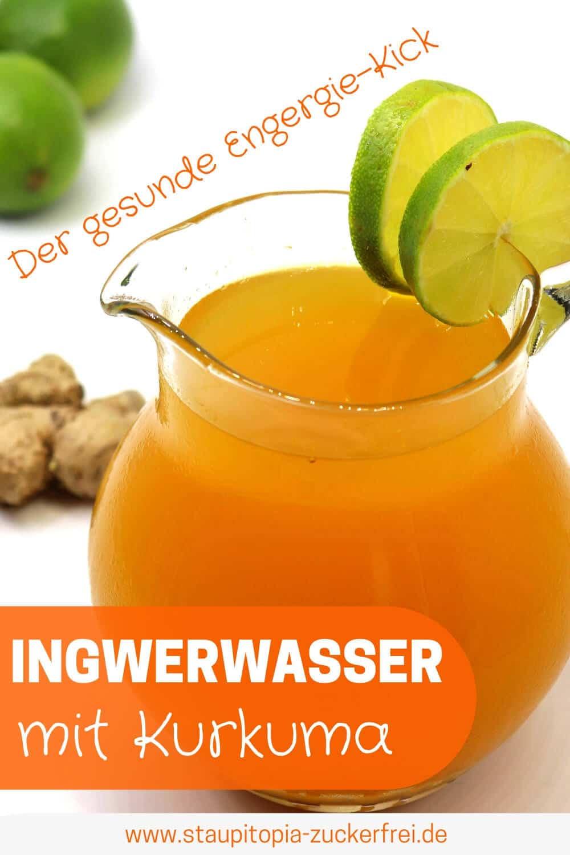 Rezept für Ingwerwasser, dass bei Erkältungen hilft.
