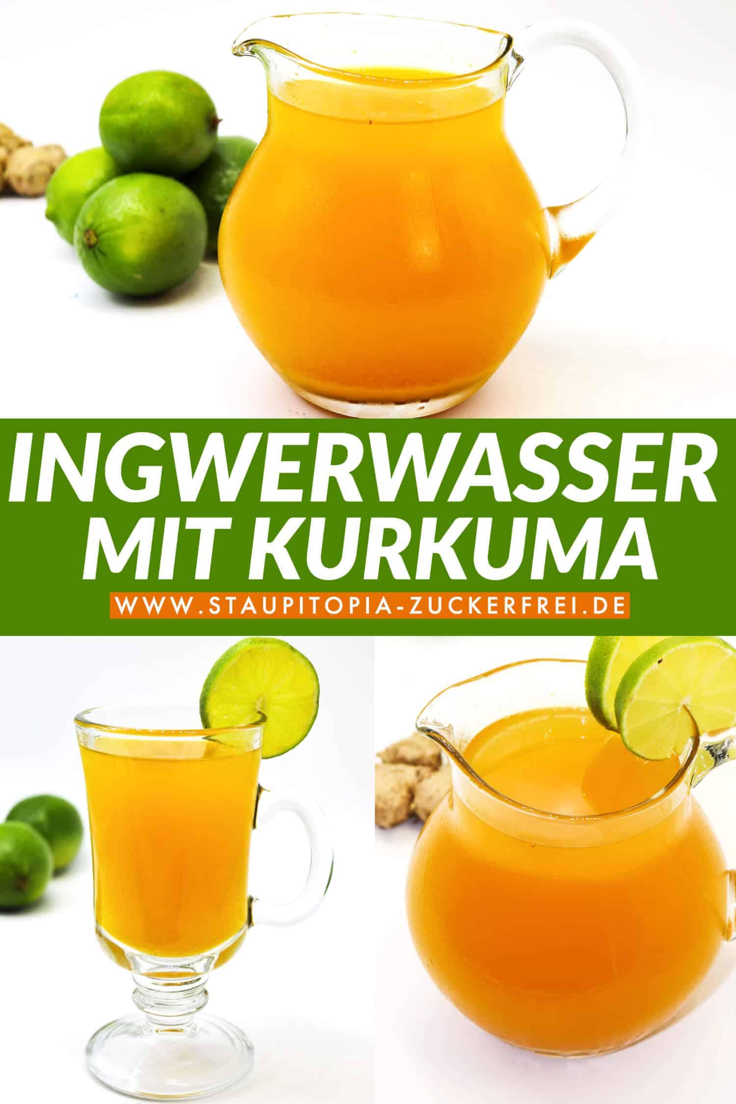 Ingwerwasser mit Kurkuma und Zitrone Rezept