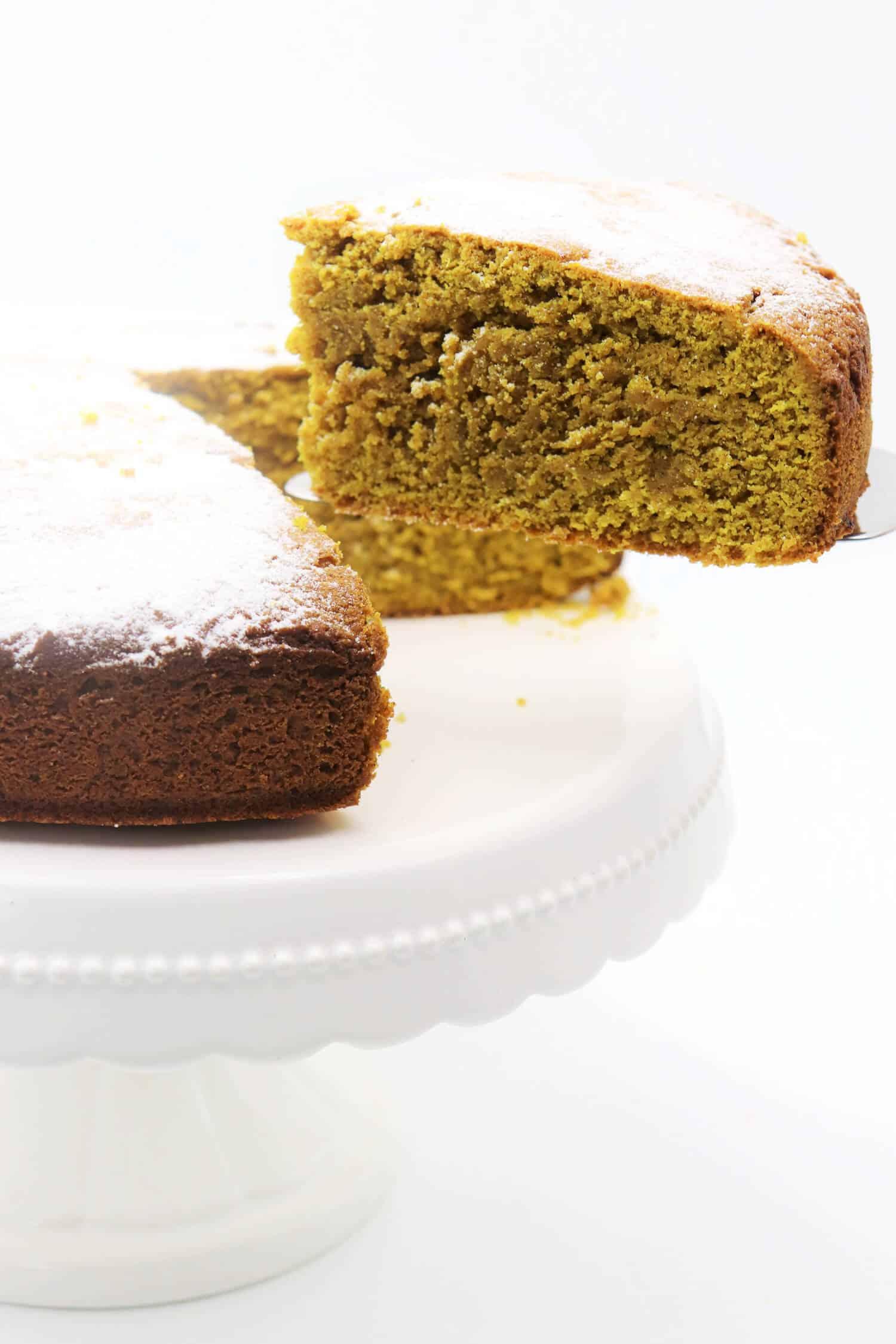 Kurkuma Kuchen mit Ingwer und Zimt Rezept