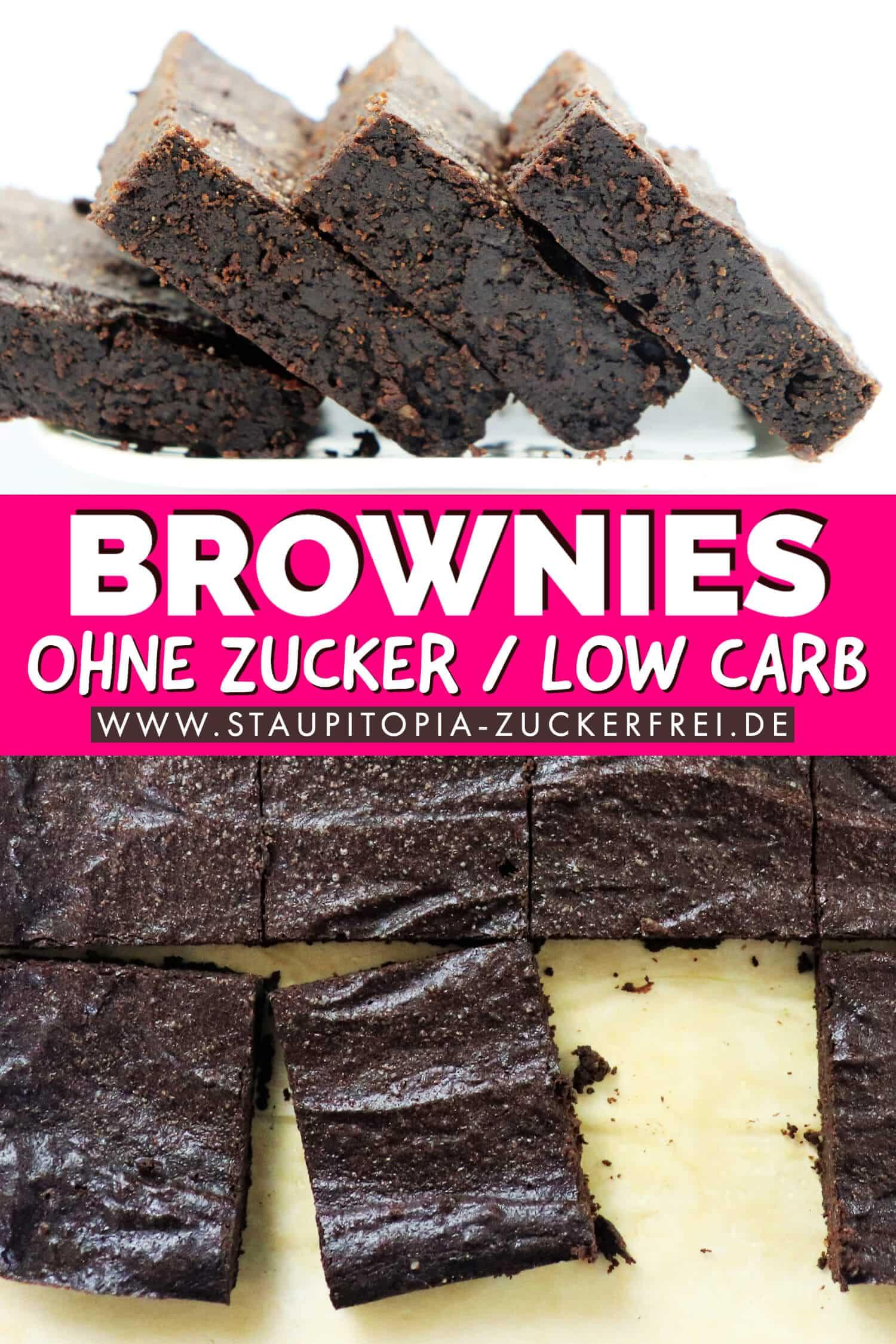 Rezept für Brownies ohne Zucker und Mehl