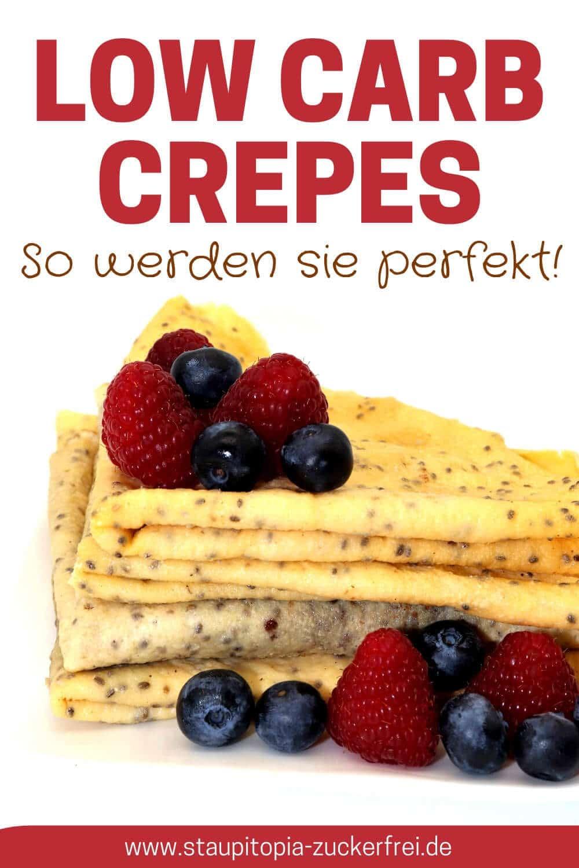 Rezept für Crepes ohne Zucker und Mehl