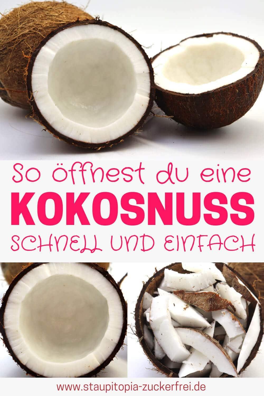 Wie kann ich eine Kokosnuss öffnen?