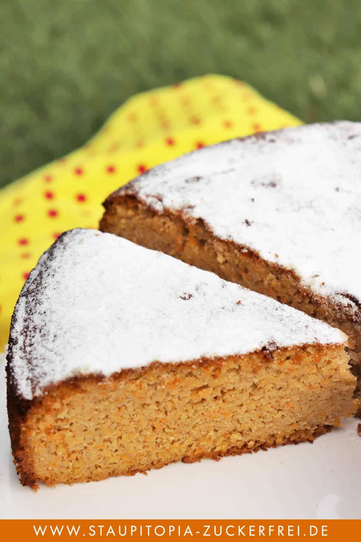 Gesunder Möhrenkuchen ohne Zucker Rezept