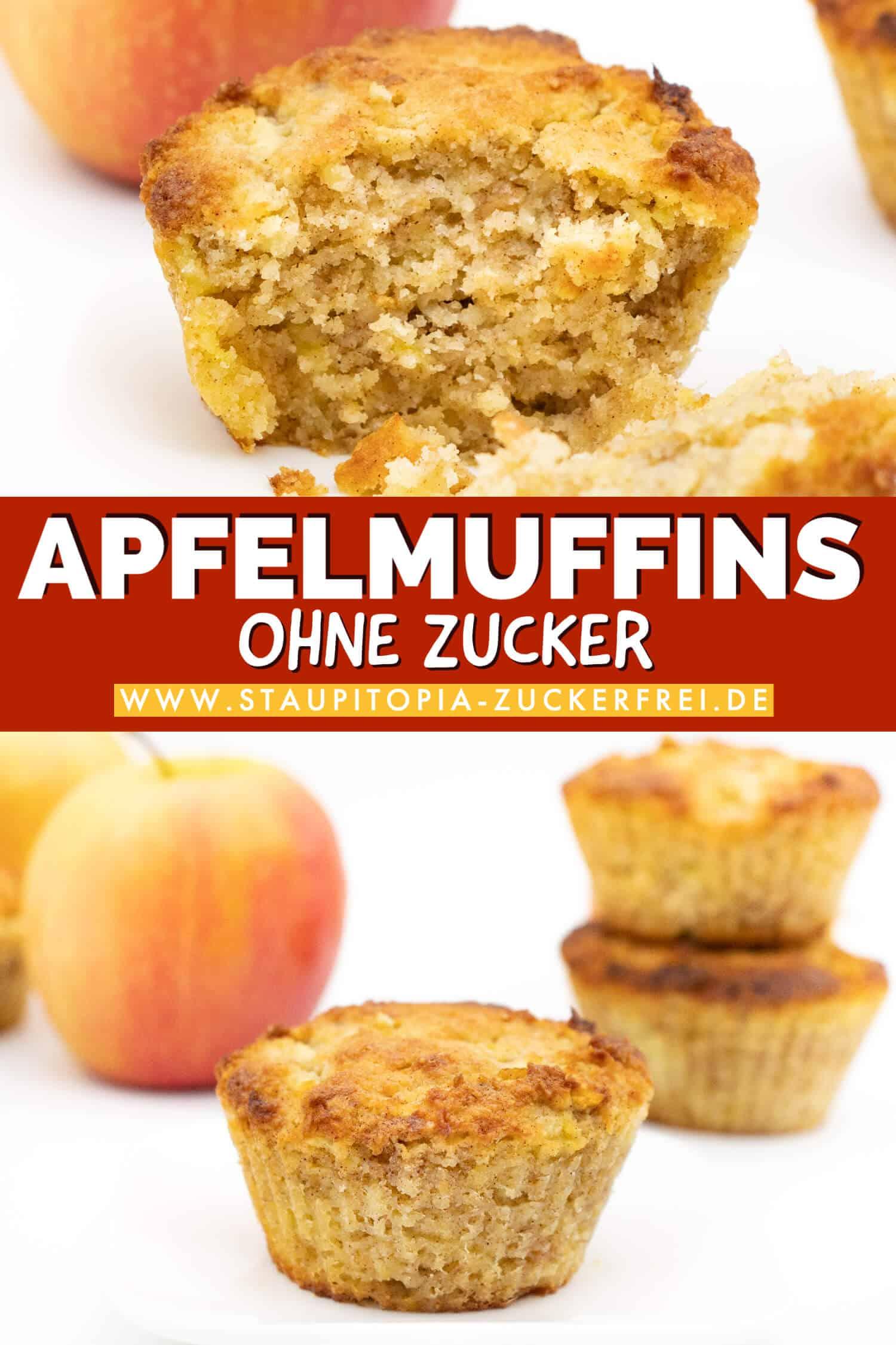 Glutenfreie Apfelmuffins ohne Zucker und Mehl