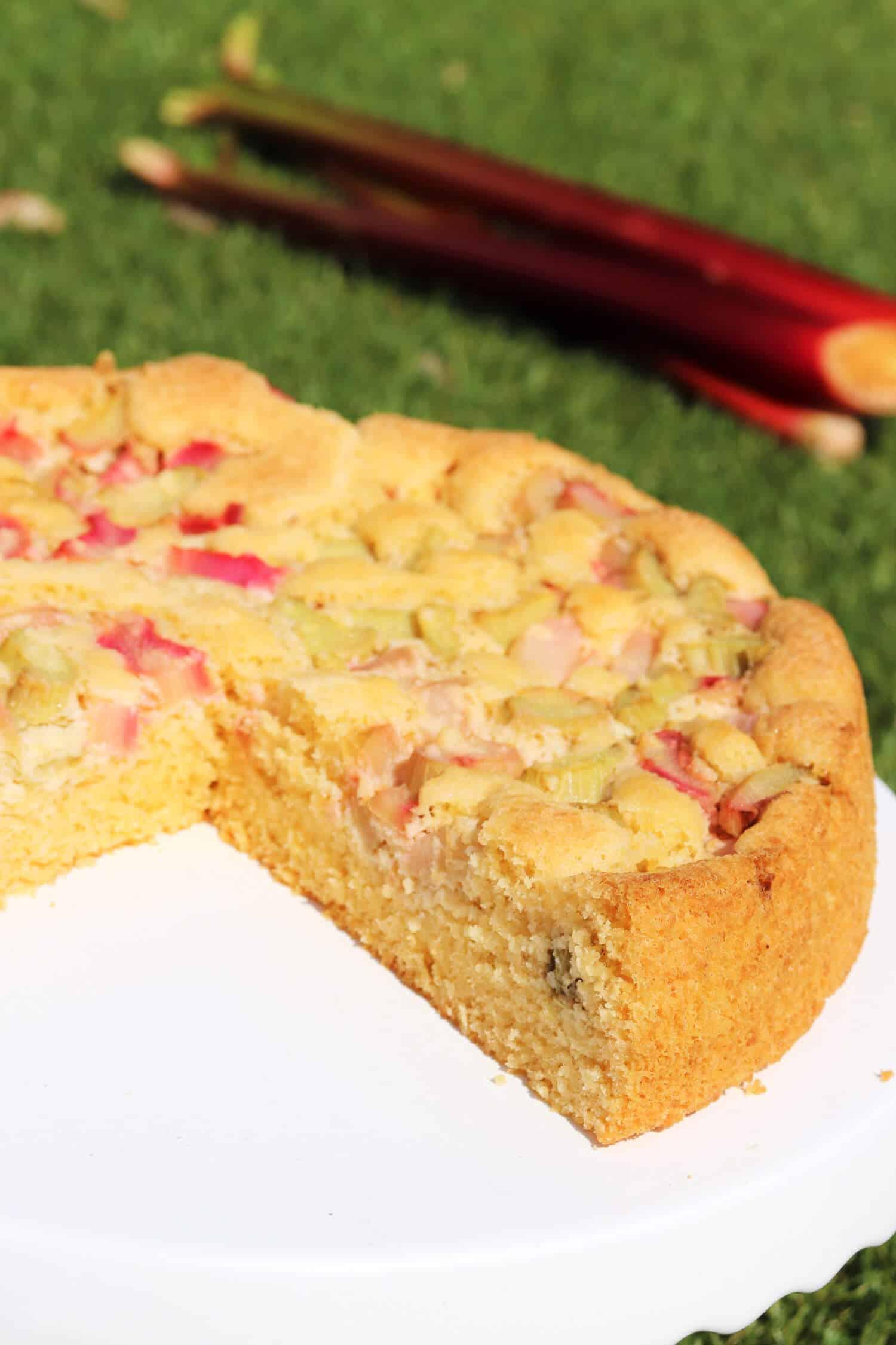 Low Carb Rhabarberkuchen Rezept schnell und einfach