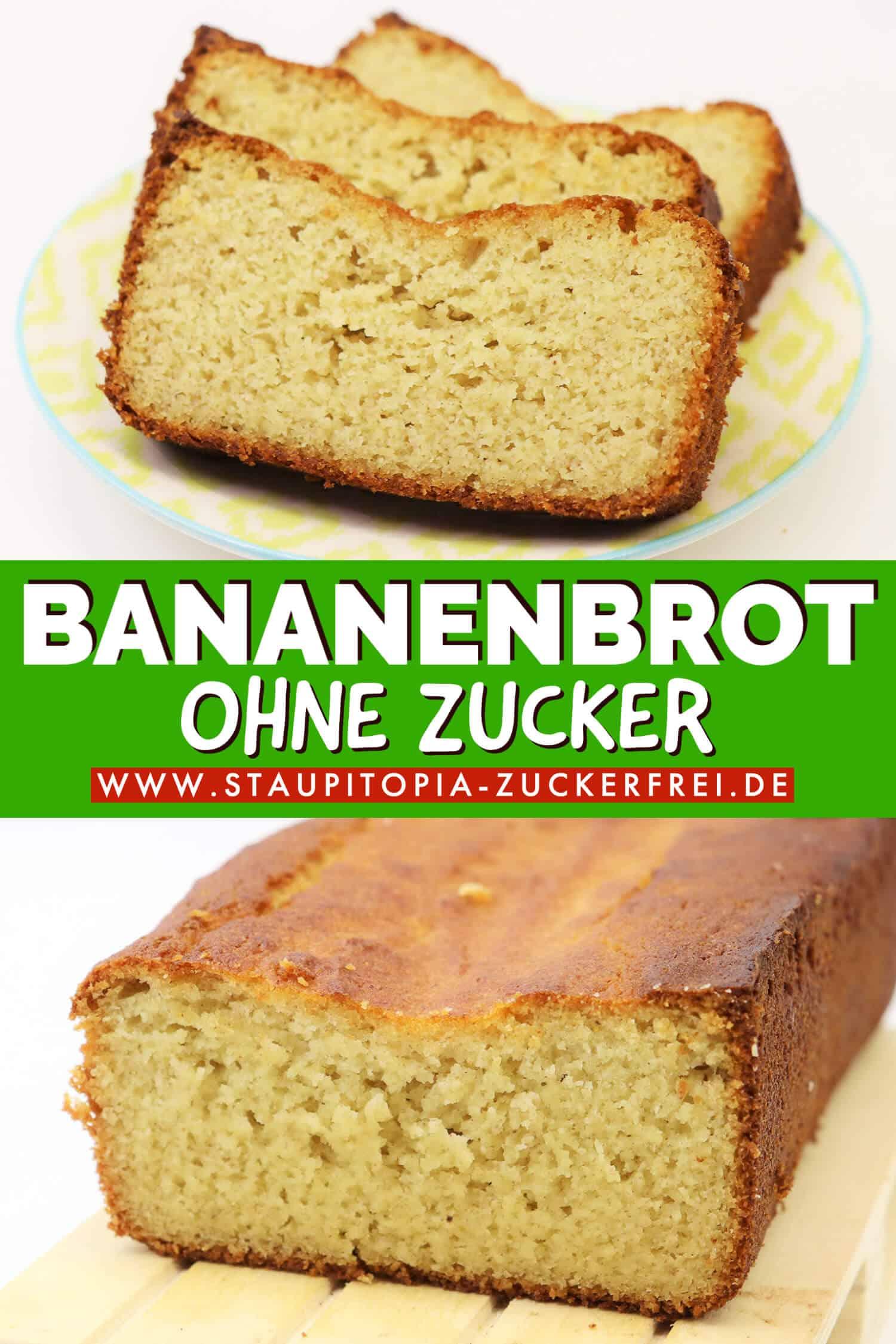 Low Carb Bananenbrot ohne Zucker