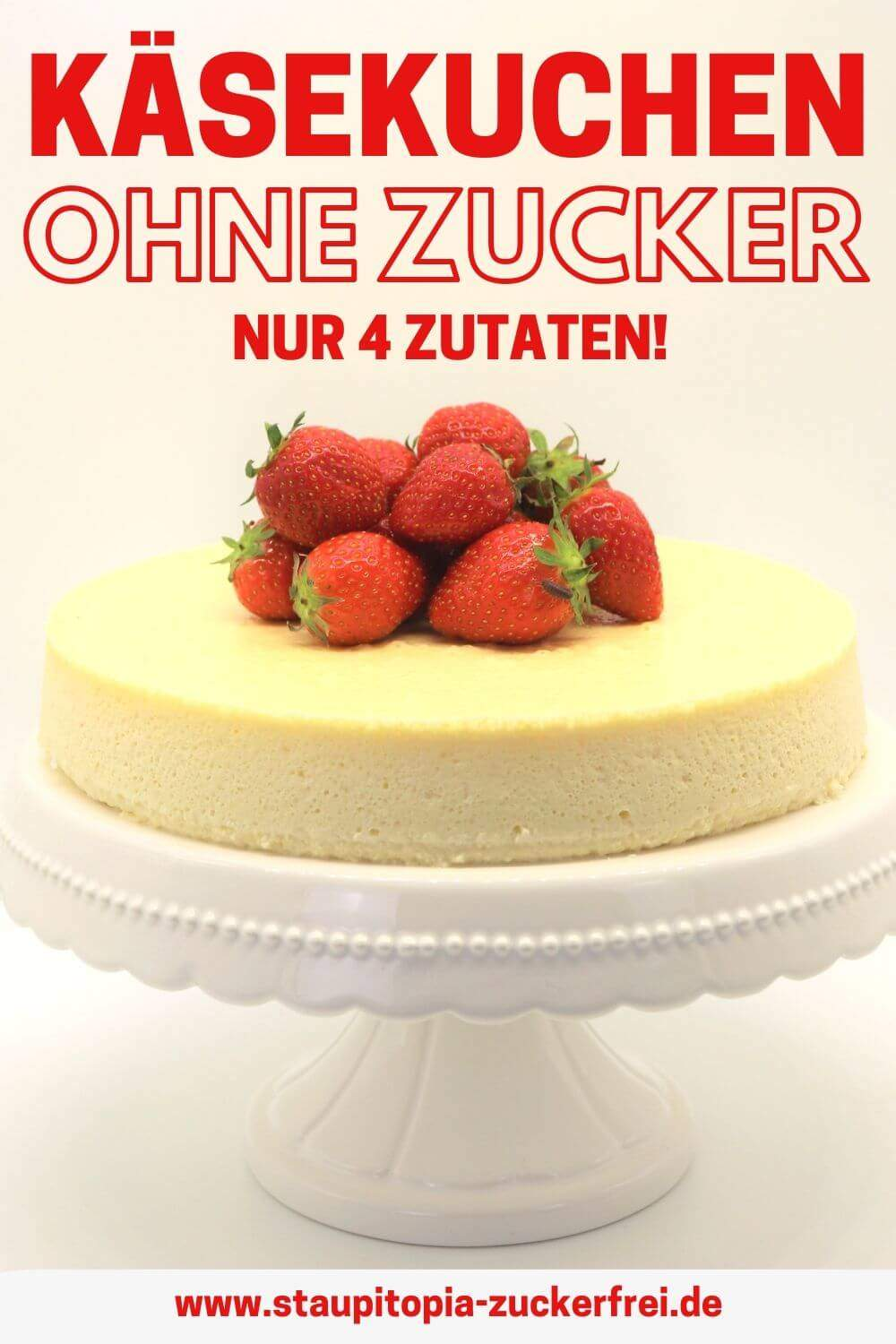 Low Carb Cheesecake mit Erythrit