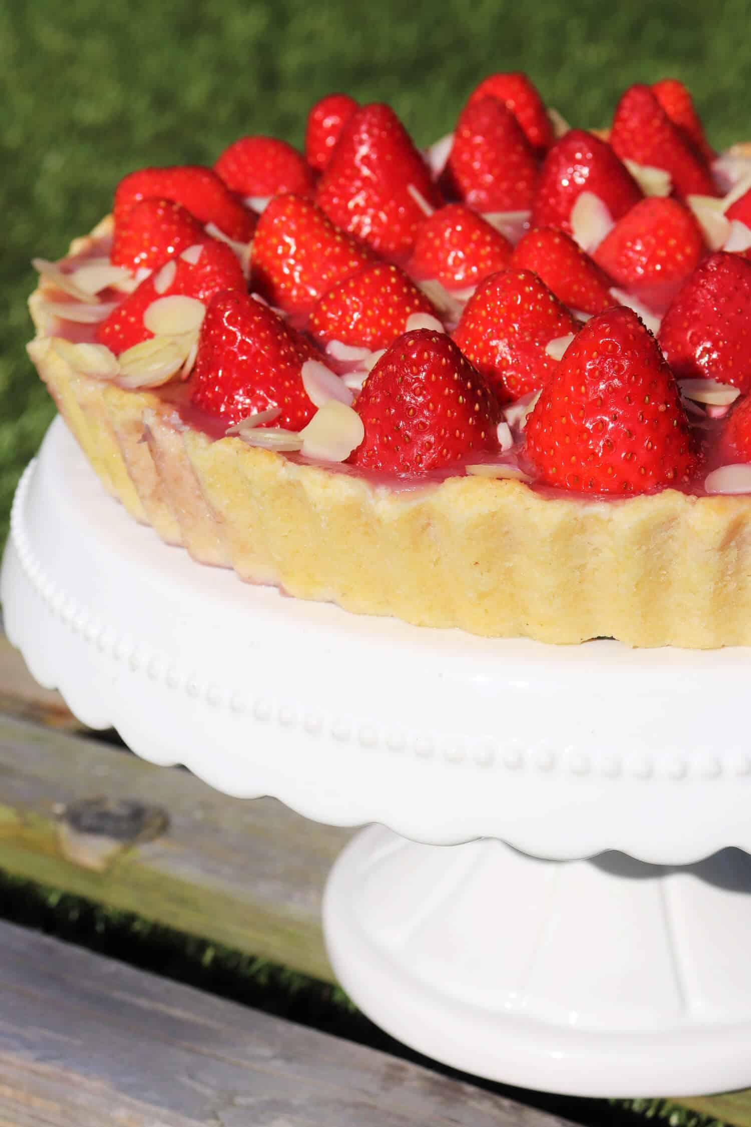 Low Carb Erdbeerkuchen mit Pudding