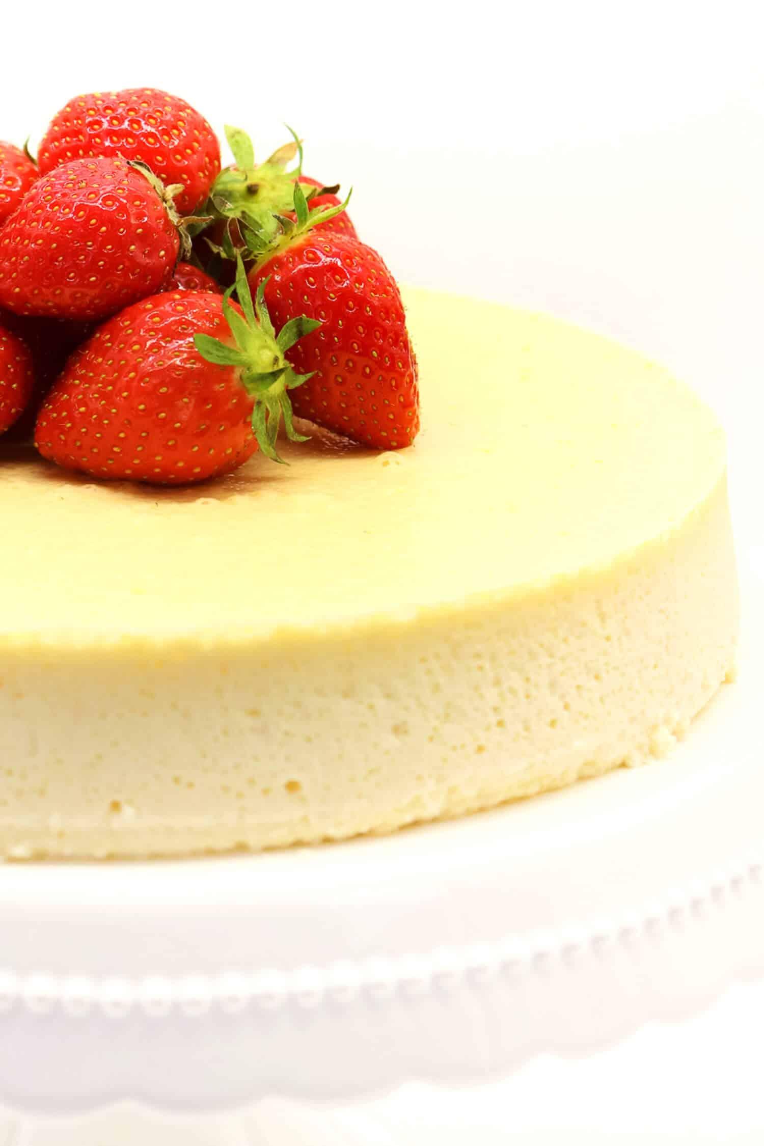 Low Carb Käsekuchen ohne Butter und ohne Zucker