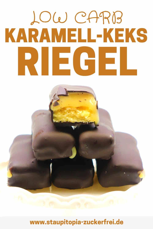Low Carb Karamell Keks Riegel