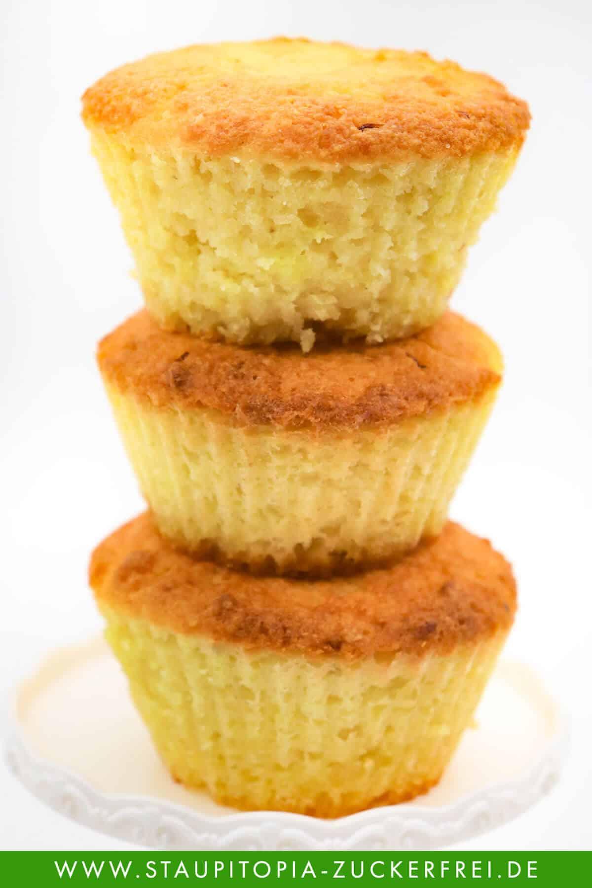 Low Carb Zitronen Muffins ohne Zucker