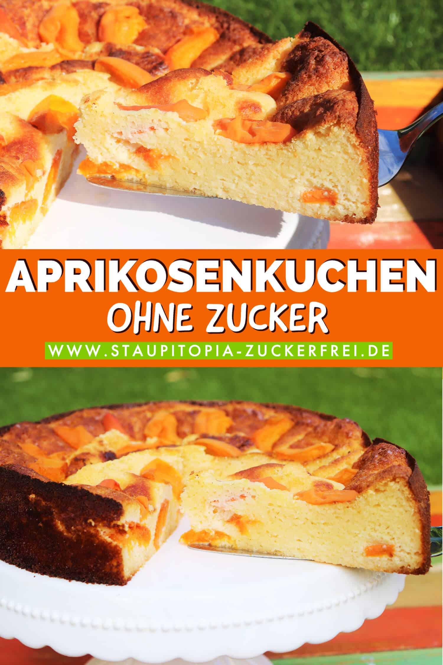 Rezept für einen Aprikosenkuchen ohne Zucker und Mehl