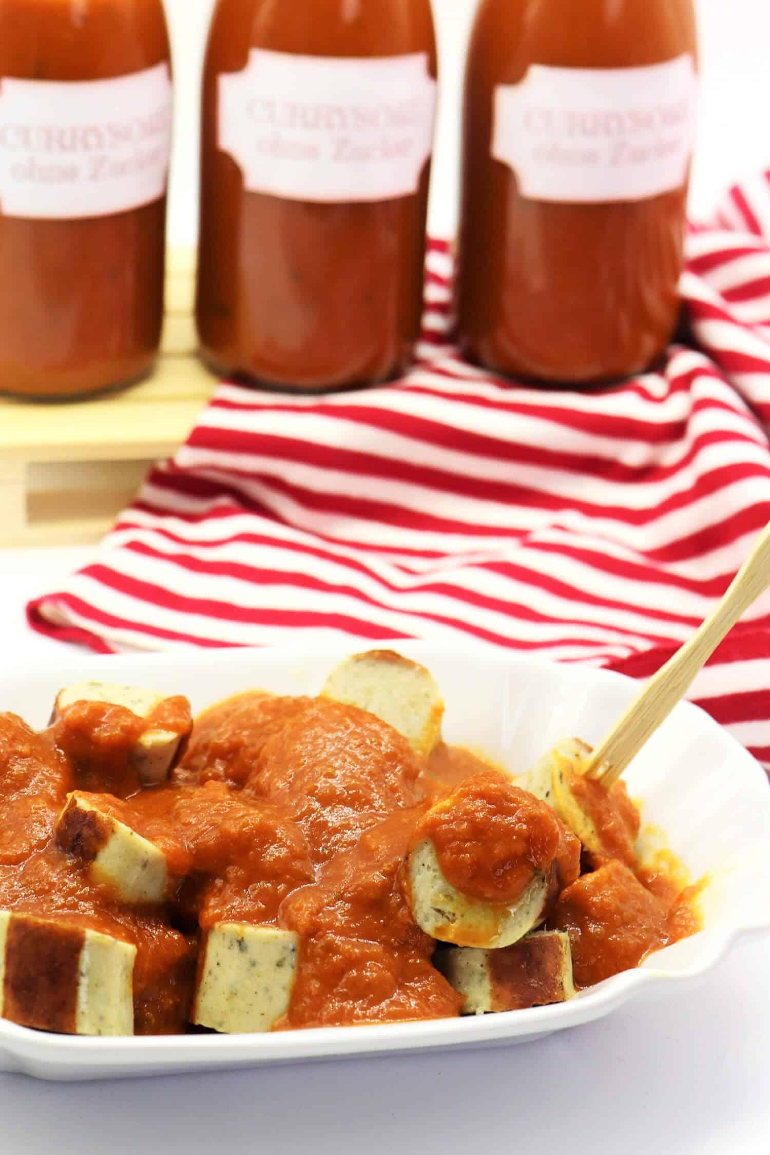 Low Carb Currywurst Rezept schnell und einfach