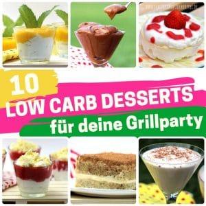 Low Carb Desserts zum Grillen