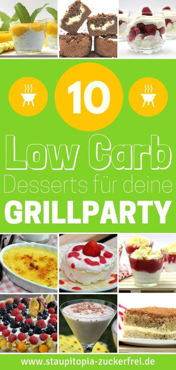 Low Carb Rezepte und Desserts zum Grillen