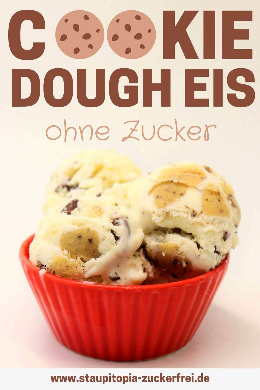 Cookie Dough Eis ohne Zucker Rezept