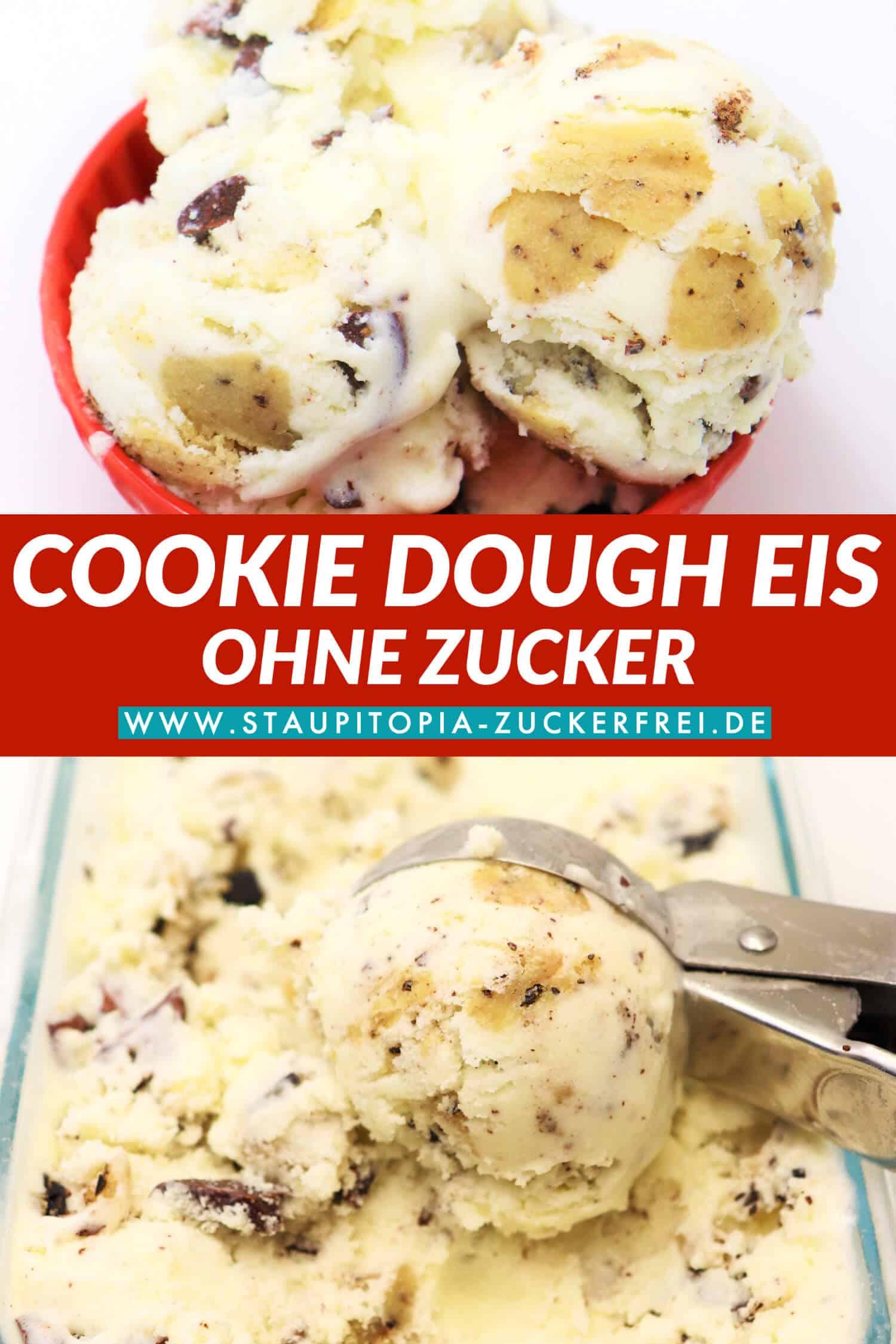 Cookie Dough Eis selber machen ohne Ei