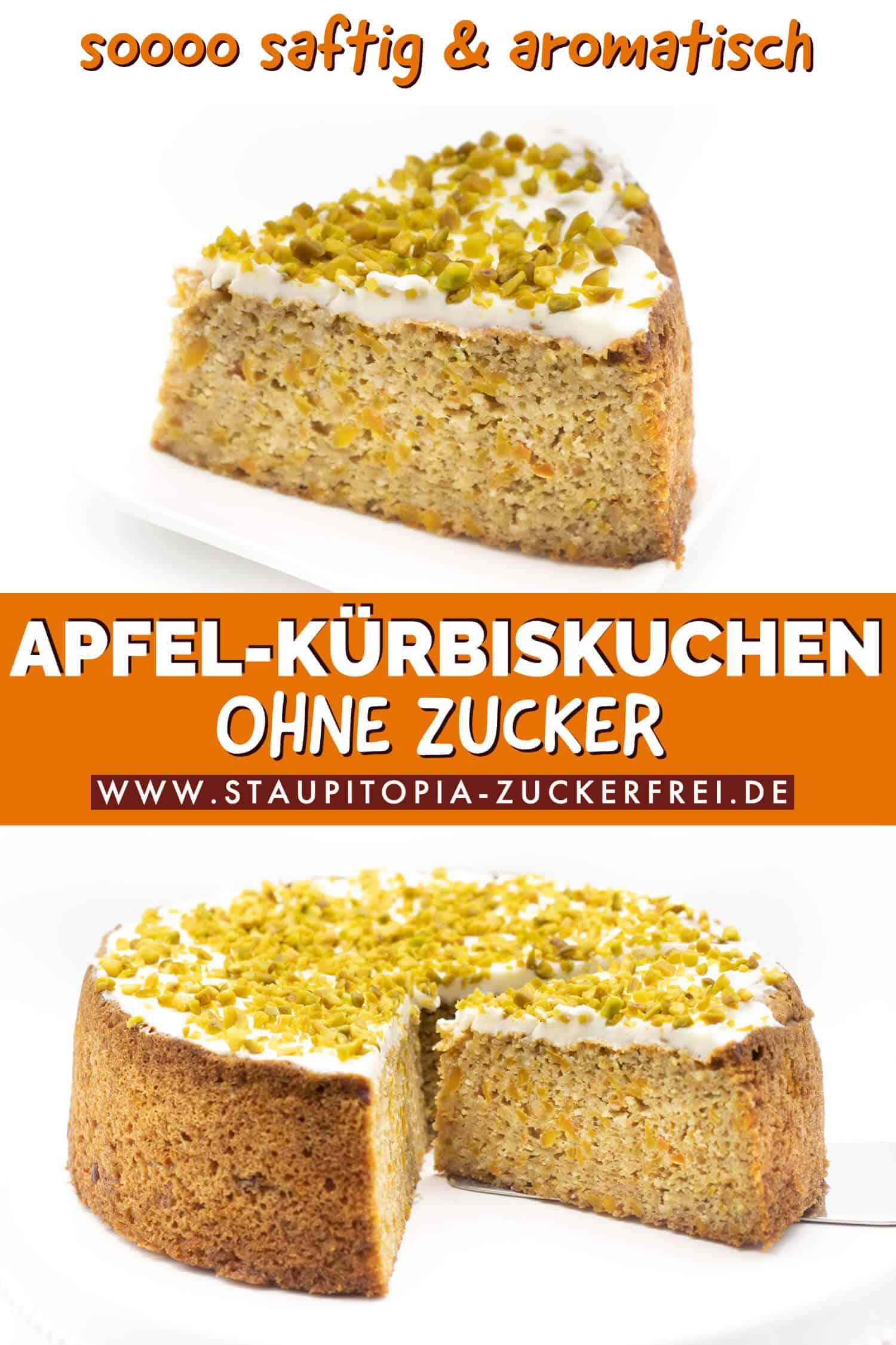 Low Carb Kuchen mit Kürbis und Apfel Rezept