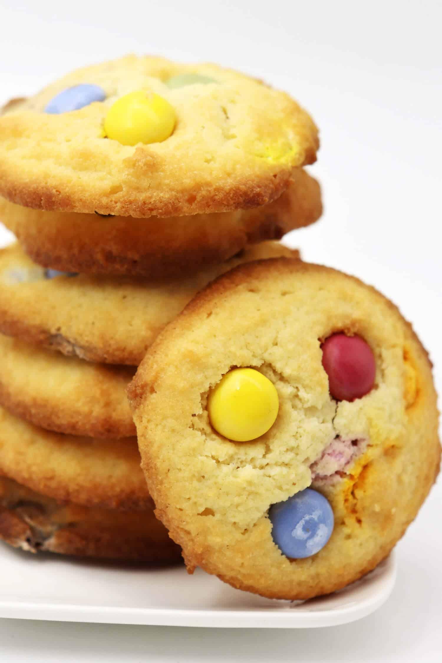 Cookies ohne Zucker mit Schokolinsen Rezept