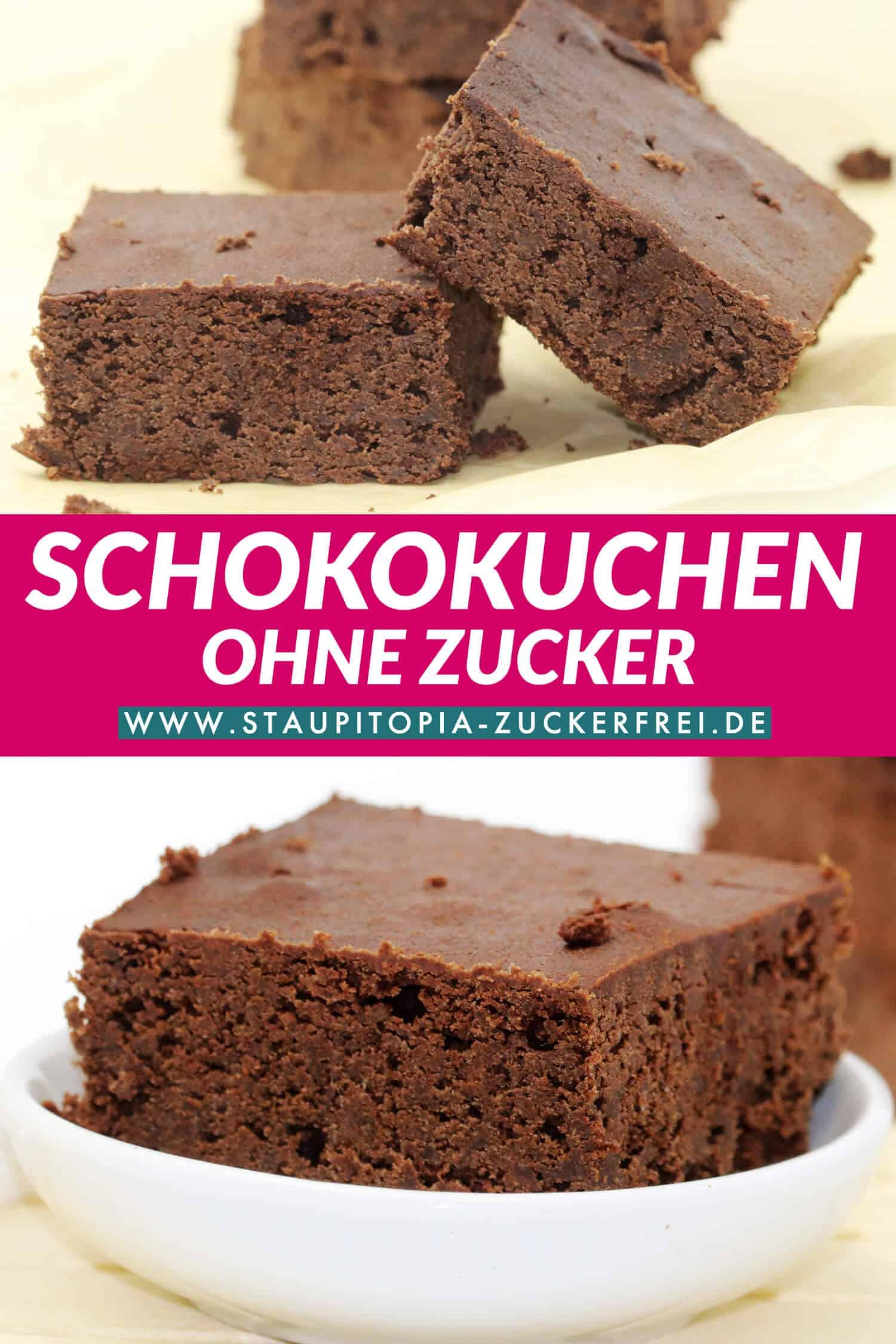 Glutenfreier Schokokuchen vom Blech Rezept mit Erythrit und Xylit