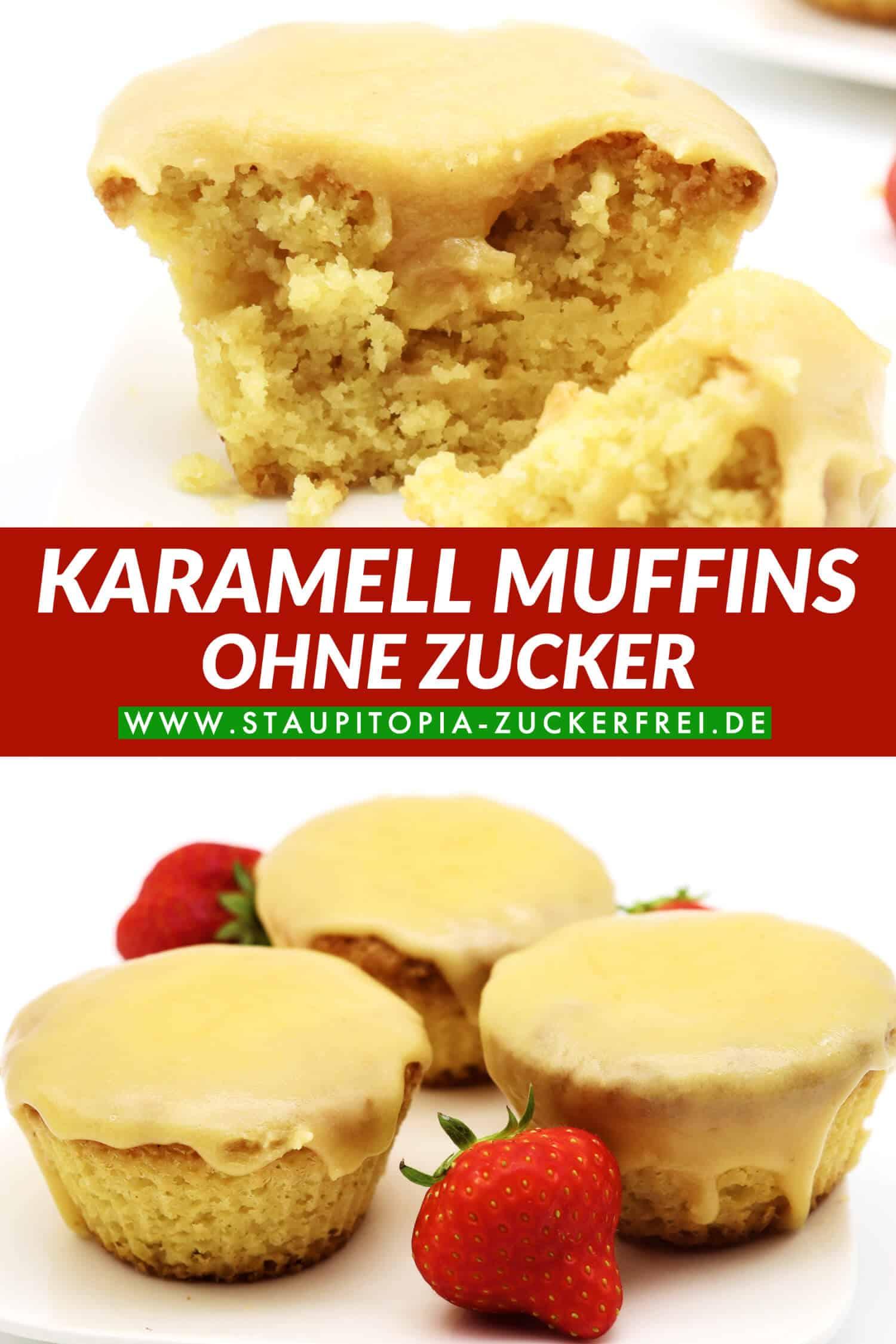 Rezept für Karamell Muffins ohne Zucker und Mehl