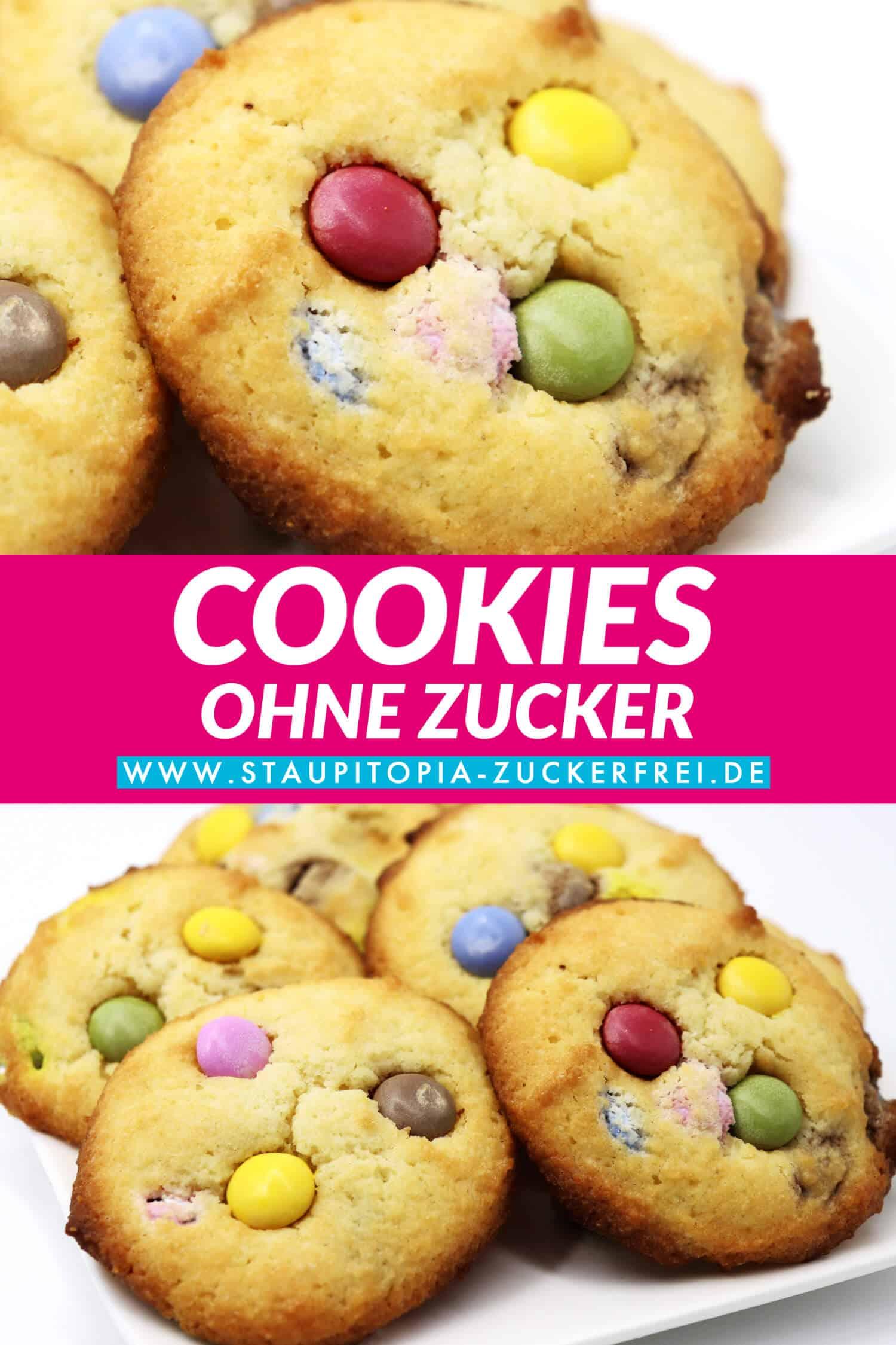 Low Carb Cookies mit Schokolinsen einfach und schnell