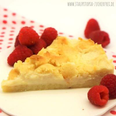 Low Carb Puddingkuchen mit Streuseln